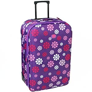 Extra Large 30'' Lightweight Expandable Suitcase (Daisy Purple)