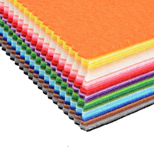 41 Farben Bunte Filz Blätter Handwerk Polyesterwatte Mischung Stoff 15x15cm