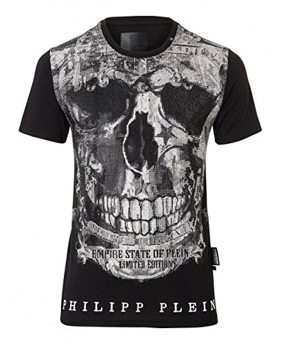 Philipp plein limited mtk1449 02 maglietta nero black uomo