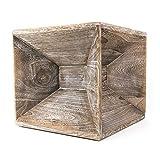 Homestyle4u Hocker Seite Holz Nachttisch grau Cube Couchtisch Aufbewahrung, Multicolor, Single
