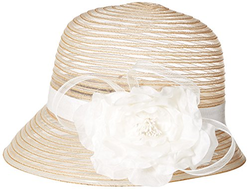 scala-womens-cloche-hat-with-flower-taupe-one-size