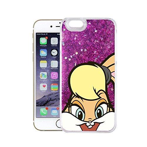 finoo | Iphone 7 Flüssige Liquid Lila Glitzer Bling Bling Handy-Hülle | Rundum Silikon Schutz-hülle + Muster | Weicher TPU Bumper Case Cover | Tweety Happy Honey