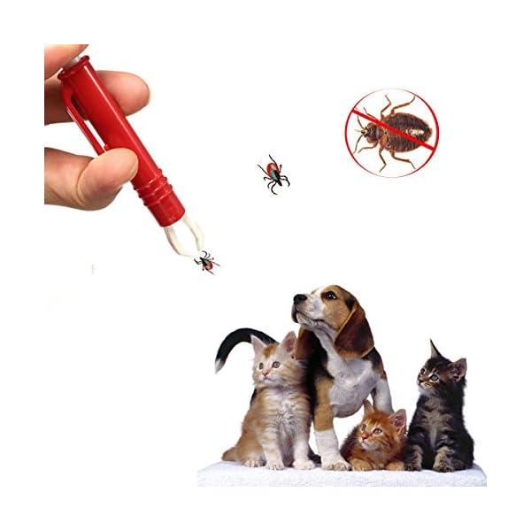 Calops Tick Remover Tick Removal Ticks Tweezers Grooming Tools For Dog,Cat,Horse,Rabbit Eliminate Pests Flea Tweezers 4
