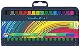 Schneider Link-It Fasermaler (Filzstifte mit 1,0 mm Strichstärke, einfach zusammenstecken und beliebig kombinieren) 16er Stiftebox sortiert