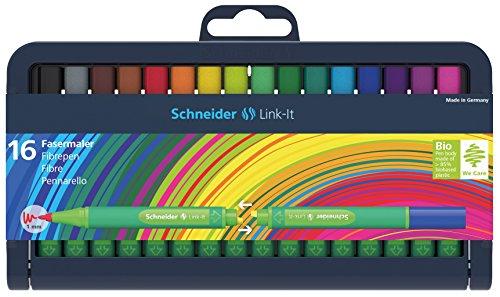 Schneider Link-It Fasermaler (Filzstifte mit 1,0 mm Strichstärke, einfach zusammenstecken und...