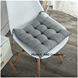 #5: AMZ Shoppers Premium Microfibre Chair Pad Cushion Seat Pads Seat Cushion Indoor Outdoor Dining Home Office Garden Decor-15 x 15 inches (Grey)