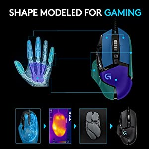 Logitech G502 Gaming Mouse Proteus Spectrum RGB Tunable with 11 Programmable Buttons – Black