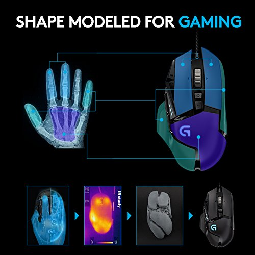 Logitech G502 Gaming Mouse Proteus Spectrum RGB Tuneable with 11 Programmable Buttons - Black