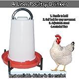 Praish 4 Liter Self Locking And Handle Type Poultry Drinker