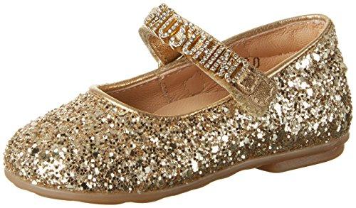 Moschino Mädchen 25965 Glitter ORO Geschlossene Ballerinas, Gold, 22 EU