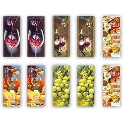 Taunus Grußkarten 99-3004 Lot de 10 pochettes à bouteille Motif vin