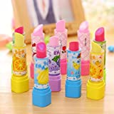 #7: Friends Kids Lipstick Style Rubber Eraser For Girls Birthday Party Gift (Pack Of 12)