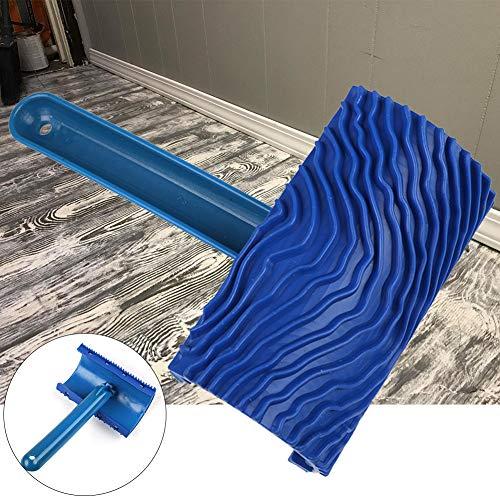 Farbroller Kunst Griff Nachahmung Wand Blau Körnung Pinsel Gummi Hause Werkzeug Holz Muster Dekoration Durable Empaistic DIY - Blaue Wand Pinsel