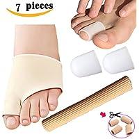 smfhealth 7PCS Toe protecters Kit: silicone gel