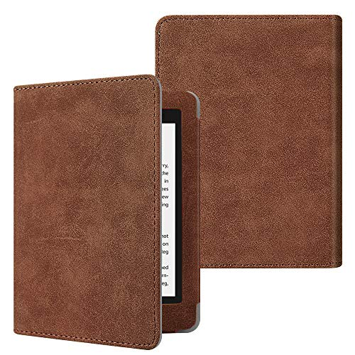 Fintie Folio Hülle für Kindle Paperwhite (alle Generationen 2012-2018) - Kunstleder Schutzhülle Tasche mit Auto Sleep/Wake Funktion für Amazon Kindle Paperwhite eReader, Rustikal braun