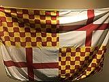 Tabarnia Bandera (10, Poliéster),pack de 10 banderas, exterior de 150x100 cm cada una, tela de poliester, amarres para balcon, nueva comunidad autonoma de Cataluña
