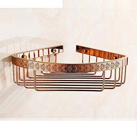 Triangle Nets panier/Panier d'angle salle de bain/étagère européenne de salle de bains antique-D