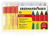 Eberhard Faber 521009 - Wachsmalkreide mit Schiebehülse und Rutschbremse, Mehrfarbig