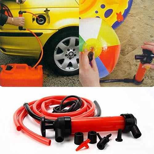 Dandeliondeme Auto Siphon Ölpumpe, Tragbare Manuelle Ölpumpe Auto Kraftstoff Gas Extractor Siphon Schlauch Transfer Sucker Schlauch Black + Red