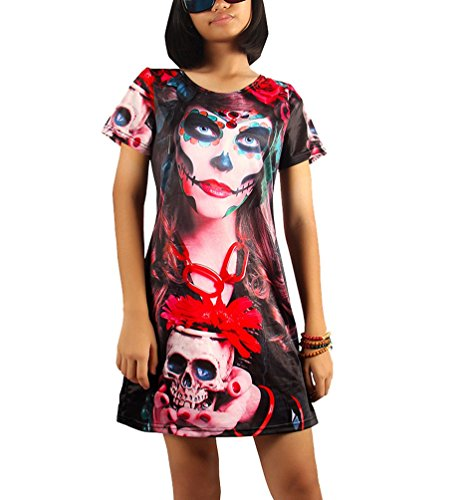 NiSeng Damen Halloween Kostüme Kleider Zombie Braut Vampir Braut Zombie Passt Halloween Ghost Bride Kostüme Kleider 4# (Kostüme Ghost Erwachsene Damen Bride)