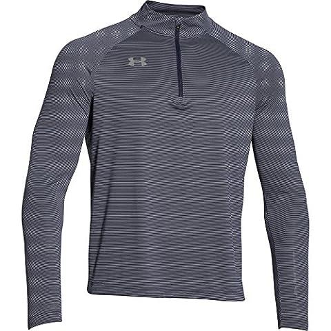 Under Armour Men's Team Stripe 1/4 Zip Shirt (3X-Large, Midnight Navy)