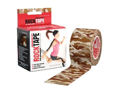 RockTape Standard Tape, 5cm x 5m, Camo Braun, 1 Stück
