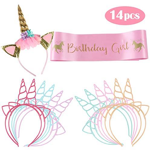 Vamei Conjunto niña cumpleaños Unicornio Incluye