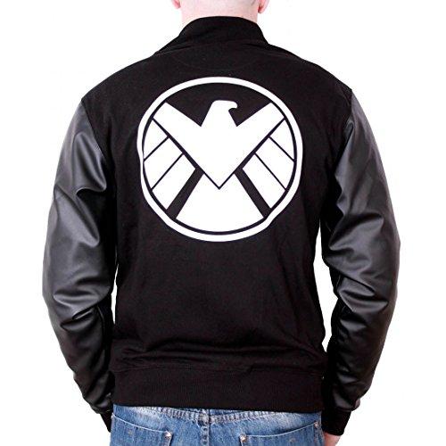 Agent Jacke (Marvel Agents Of Shield Jacke mit Kunstledereinsatz schwarz - M)
