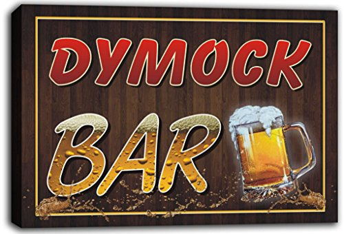 scw3-099836-dymock-name-home-bar-pub-beer-mugs-cheers-stretched-canvas-print-sign