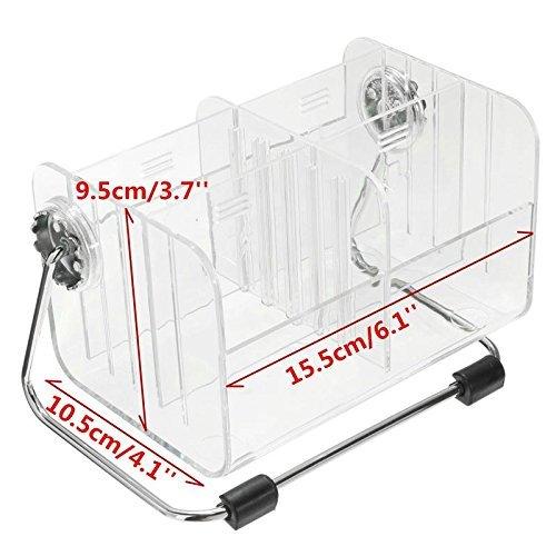 DivinextACrylic Detachable Rotation Storage Box Remote Control Holder Organizer, 18 * 12 * 11 cm, Transparent