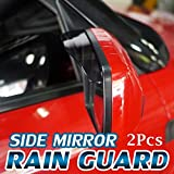 #10: AutoTrends Black Tinted Car Side Mirror Rain Guard Visor (Set Of 2pcs) For Maruti New Swift