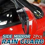 #5: Black Tinted Car Side Mirror Rain Guard Visor (Set Of 2pcs) For Maruti New Swift