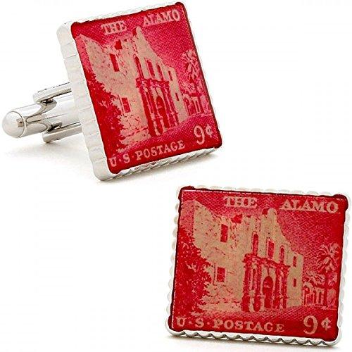 boutons-de-manchette-de-timbre-alamo-rouges
