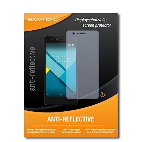 SWIDO® Bildschirmschutzfolie für BQ Aquarius M5 [3 Stück] Anti-Reflex MATT Entspiegelnd, Extrem Kratzfest, Schutz vor Kratzer/Bildschirmschutz, Schutzfolie, Panzerfolie