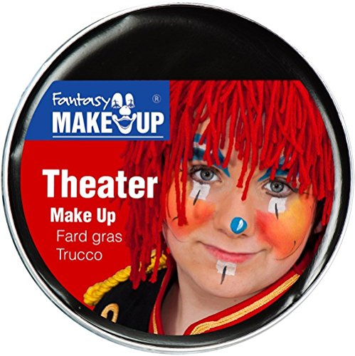 Festartikel Müller Theater Make Up Farbe schwarz 25 g Fasching Halloween Schminke (Schwarze Make-up Für Halloween)