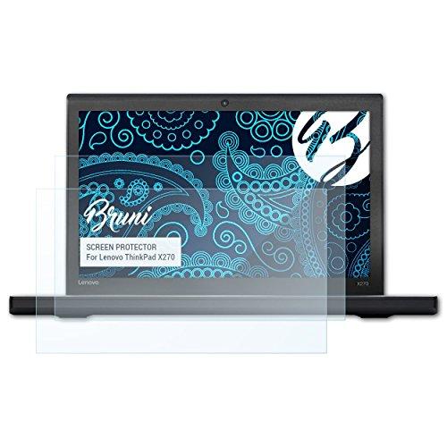 Bruni Schutzfolie kompatibel mit Lenovo ThinkPad X270 Folie, glasklare Bildschirmschutzfolie (2X)