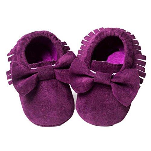 Culater® Culla nappe Bowknot pattini di bambino delle scarpe da tennis casuali Viola