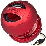 XMI X-Mini II Enceinte portable pour iPhone/ iPad 2 3 / lecteur MP3 / ordinateur portable Rouge