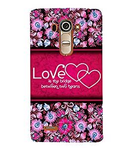 Love Quote 3D Hard Polycarbonate Designer Back Case Cover for LG G4 :: LG G4 H815