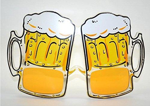 foopp Kreative Bier Goggle Brille für Party Favor Festival (gelb)