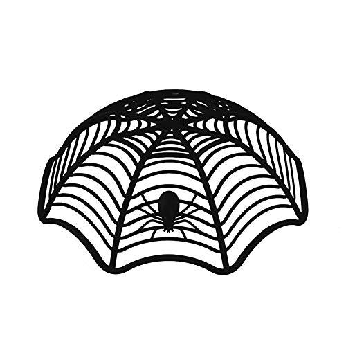 Steellwingsf Kreative Spider Web Keks Früchte Candy Platte Korb Schüssel Halloween Party Dekor - schwarz