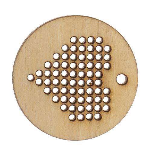 Frame Mini Anhänger (IPOTCH Mini Holz Kreuzstich Hoop Ring Stickerei Kreis Sewing Kit Frame Craft Anhänger Schmuckherstellung 1,18 Zoll Runde)