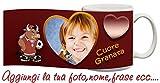 Tazza Torino cuore Granata Toro Personalizzata con nome,frase,foto ecc Idea Regalo