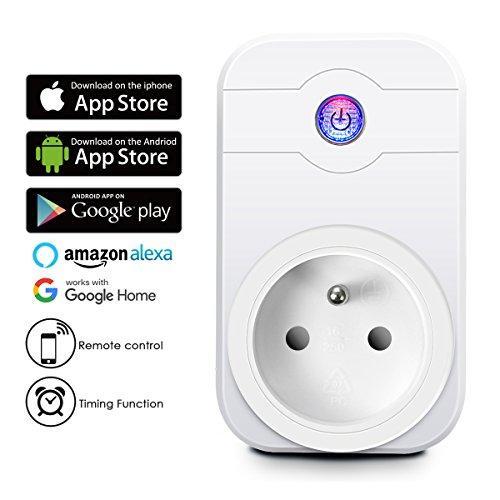Prise Intelligente, ELEGIANT WiFi 2.4GHz Interrupteur Domotique Switch Smart Télécommande Commutateur Compatible avec Tablette Smartphone IOS/Android /Google Home/Amazon Alexa