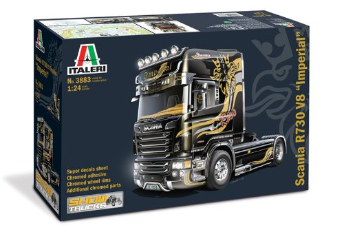 Italeri 3883 - scania r730 topline imperial modellismo camion model kit scala 1:24