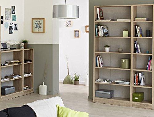 Regalwand Sophal 26 Eiche 2x Regal Standregal Bücherregal Wohnzimmer Wohnwand Wandregal Arbeitszimmer Jugendzimmer - 4