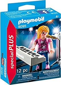 PLAYMOBIL Especiales Plus- Cantante con Órgano, Multicolor, Talla Única (9095)