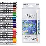 XCSOURCE 24 Couleurs Crayons de couleur Marco Raffiné Crayons d'Artiste Dessin pour Jardin secret Artiste Sketch Artiste Rédaction Manga Création