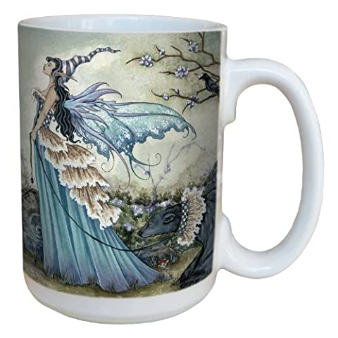 Tree-Free Greetings lm43574 15 oz Fantasy Fairy Frillicent and the Bear Ceramic Mug with Full Sized