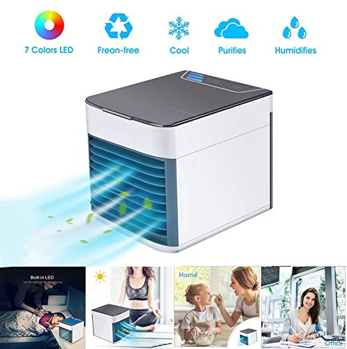 Cooling Persönliche Tragbare Mini Klimaanlage 3in1 Kleine Ventilator Klimagerät Mobile Luftbefeuchter Luftreiniger 3 Geschwindigkeiten Kleine Luftkühler USB Einheit für Zuhause Büro 2019